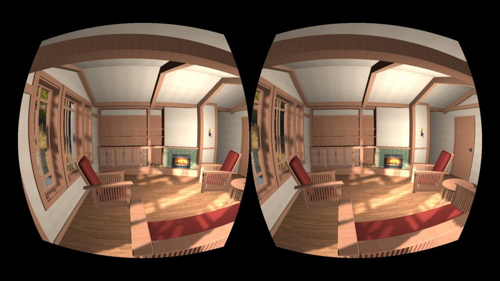 A home is illustrated through Oculus Rift technology