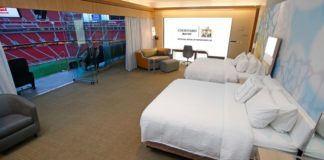 marriott courtyard super bowl sleepover LII