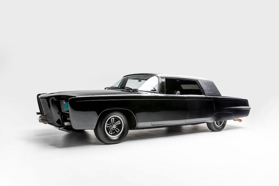 "Black Beauty exterior. Driven in the TV series ""Green Hornet"" (1966-1967). Designer: Dean Jeffries"